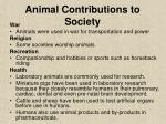animal contributions to society21