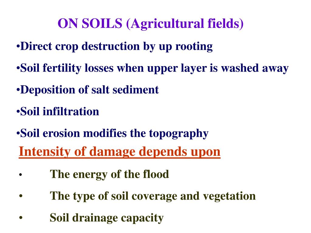 ON SOILS (Agricultural fields)
