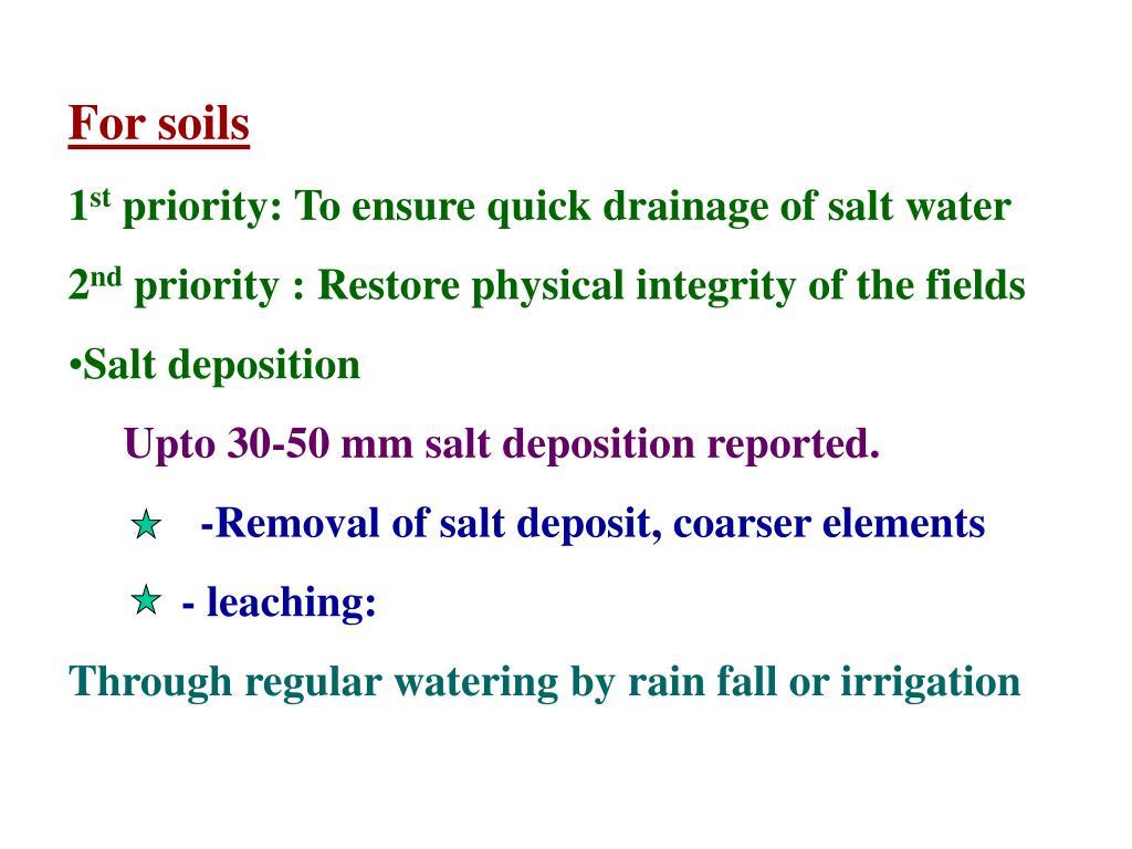 For soils