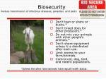 biosecurity reduce transmission of infectious diseases parasites and pests