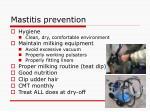 mastitis prevention