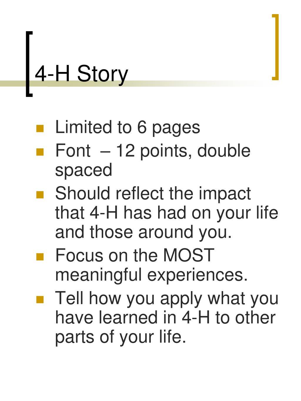 4-H Story