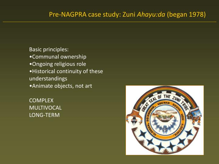 Pre-NAGPRA case study: Zuni