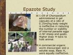 epazote study