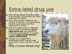 extra label drug use