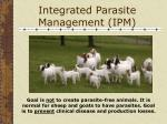 integrated parasite management ipm