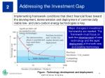 addressing the investment gap