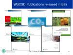 wbcsd publications released in bali
