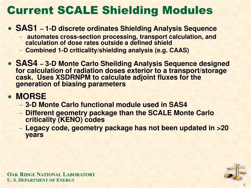 Current SCALE Shielding Modules