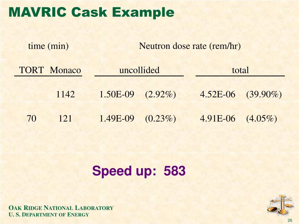MAVRIC Cask Example