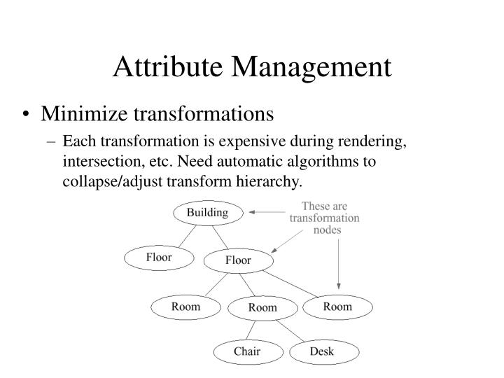 Attribute Management