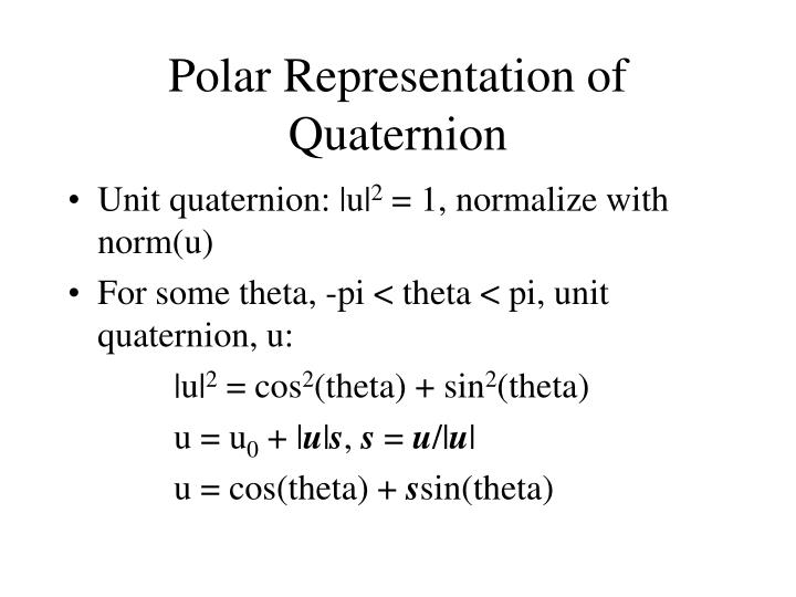 Polar Representation of Quaternion