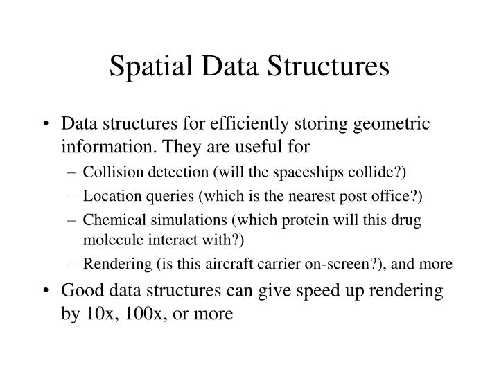 Spatial data structures