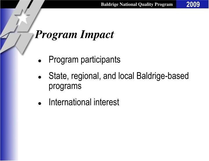 Program impact