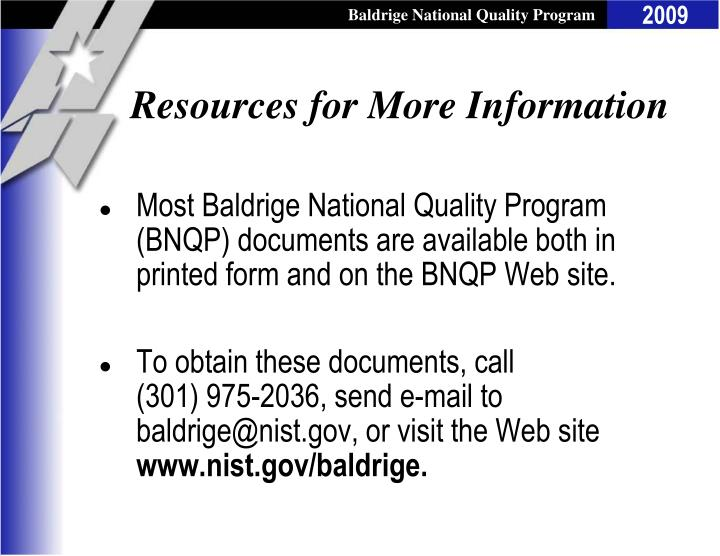 Resources for More Information