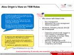 atos origin s view on tsm roles