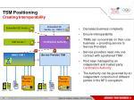 tsm positioning creating interoperability