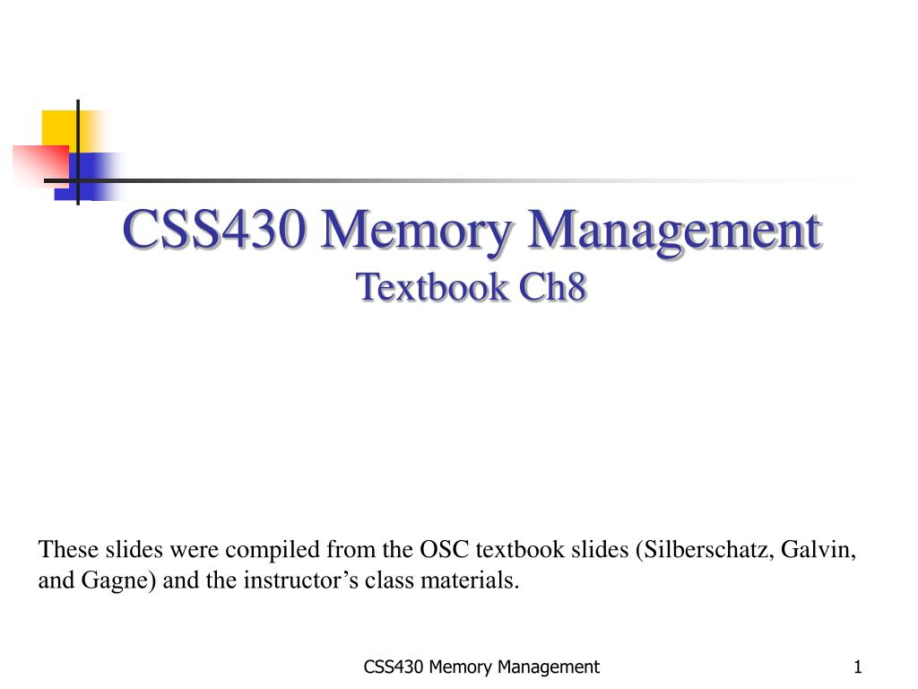 Memory Management In Operating System By Galvin Download