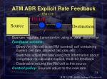 atm abr explicit rate feedback