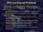 fifo and drop tail problems