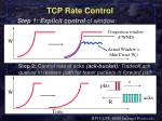 tcp rate control
