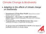 climate change biodiversity