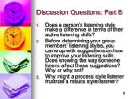 discussion questions part b