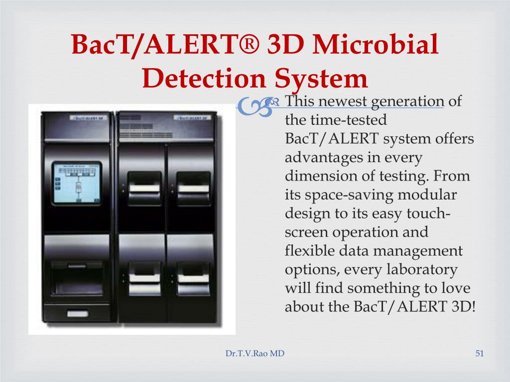 BacT/ALERT® 3D Microbial Detection System