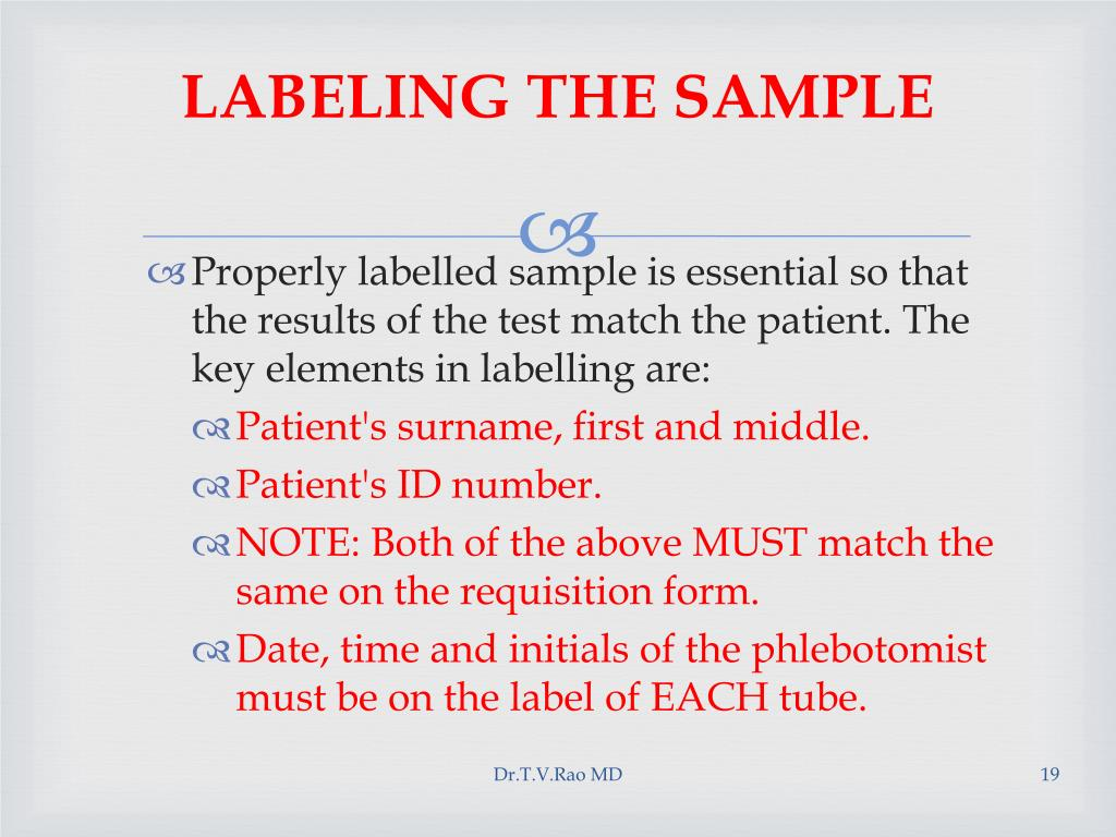 LABELING THE SAMPLE
