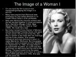 the image of a woman i