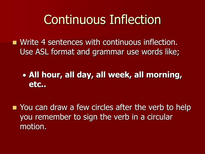 Continuous Inflection