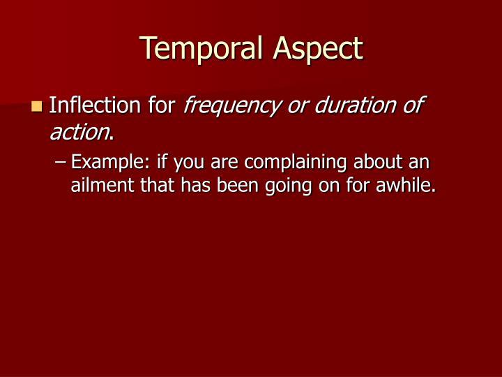 Temporal aspect1