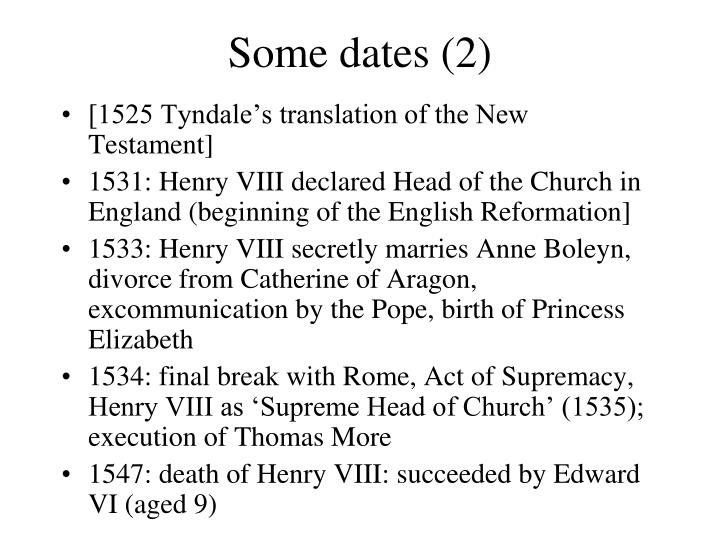 Some dates (2)
