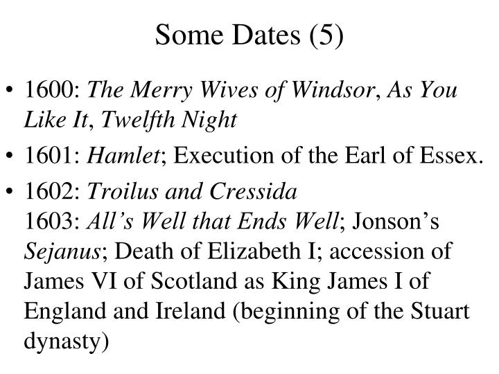 Some Dates (5)