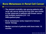bone metastases in renal cell cancer