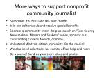 more ways to support nonprofit community journalist
