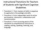 instructional transitions for teachers of students with significant cognitive disabilities