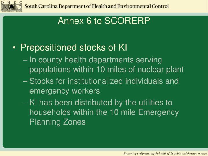 Annex 6 to SCORERP