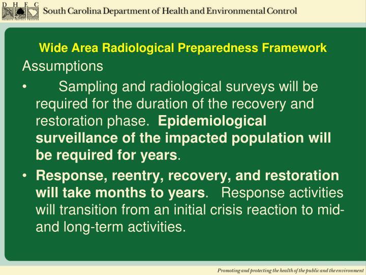 Wide Area Radiological Preparedness Framework