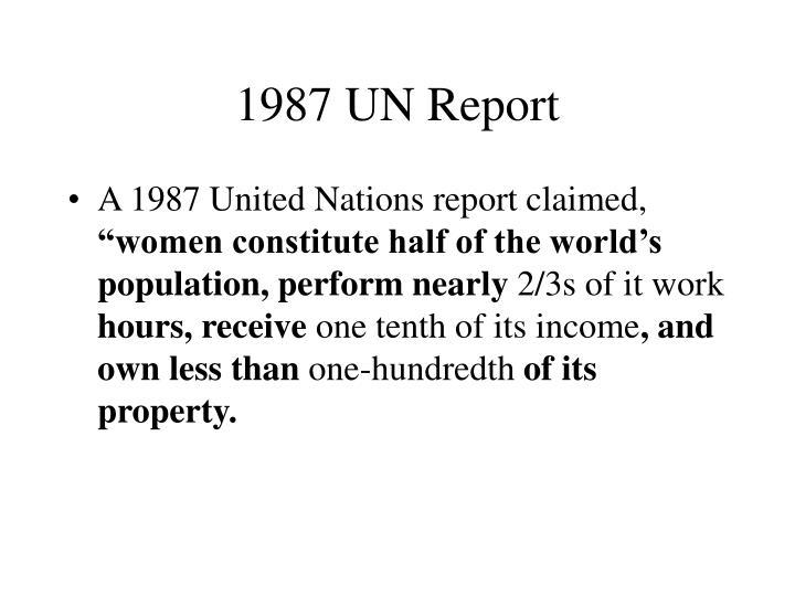 1987 UN Report