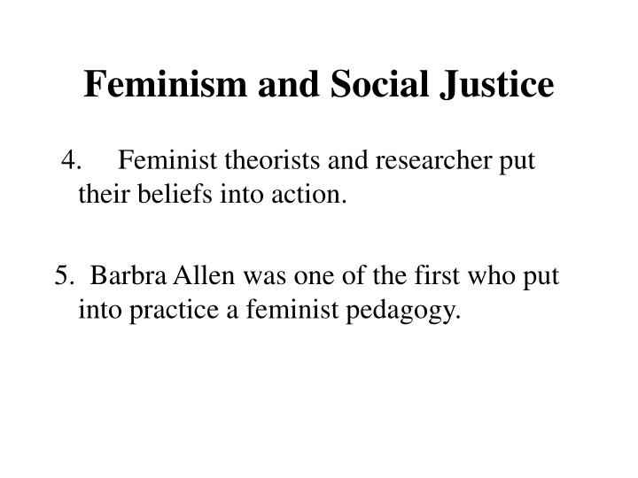 Feminism and Social Justice