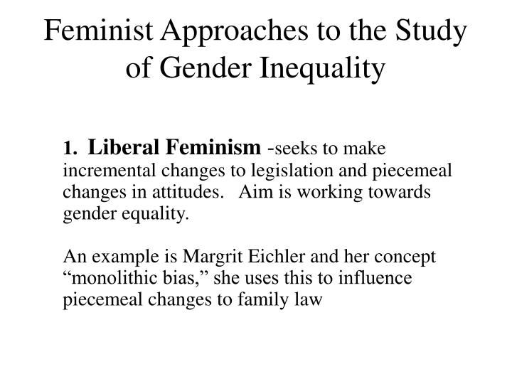 Feminist Approaches to the Study of Gender Inequality