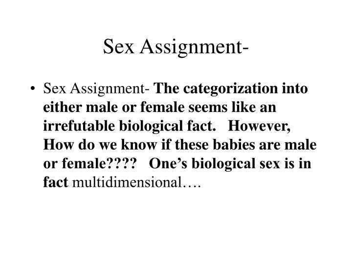 Sex Assignment-