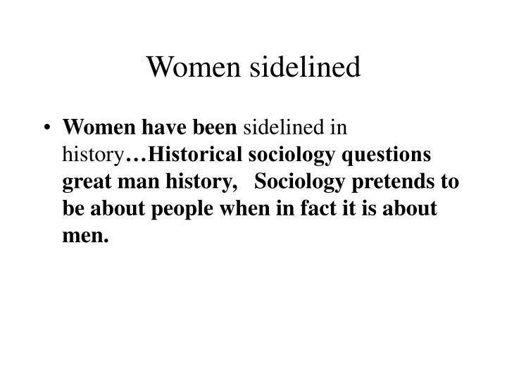Women sidelined