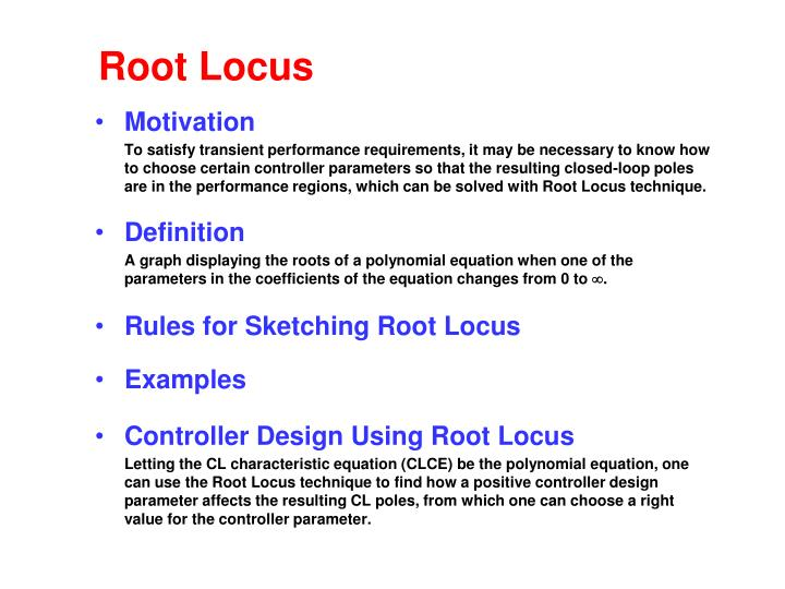 control system design by root locus method