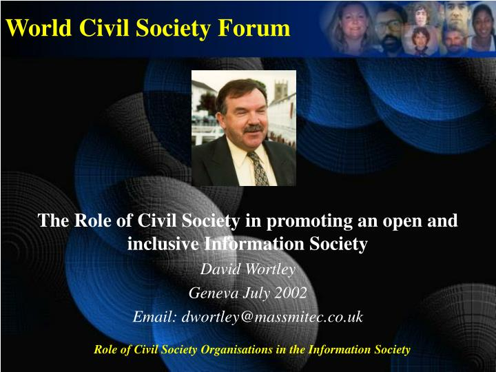 the role of civil society organizations