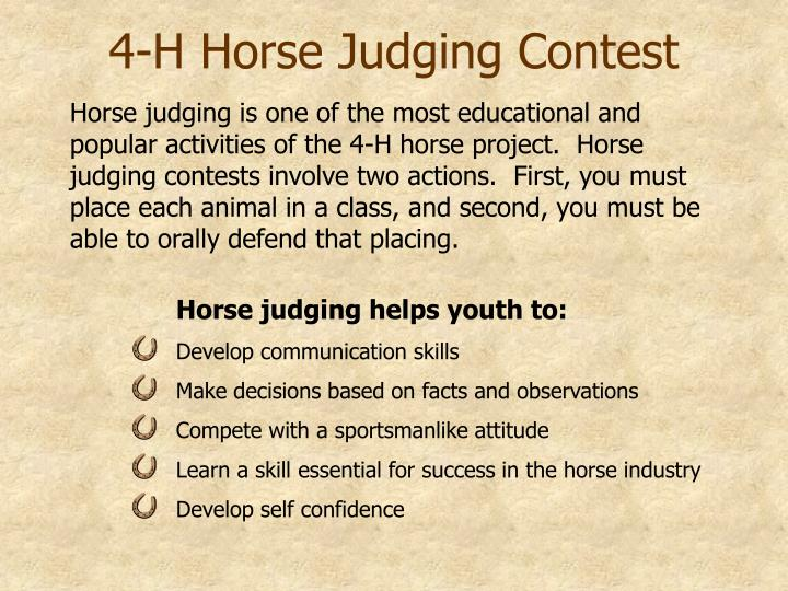 4 h horse project manual