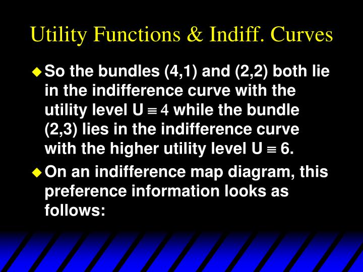 Utility Functions & Indiff. Curves