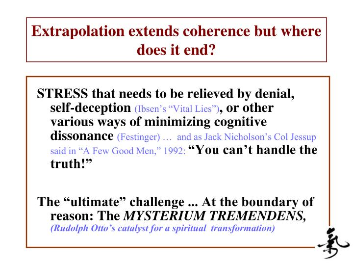 Extrapolation extends coherence but where does it end?