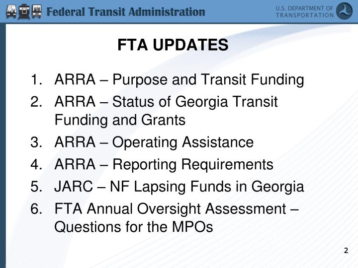 Fta updates